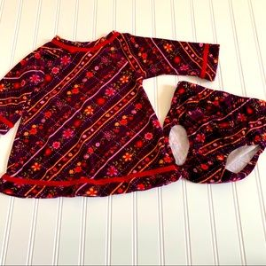 Hanna Andersson dress and bloomers size 70 GUC